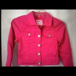 Justice Pink Denim Jacket